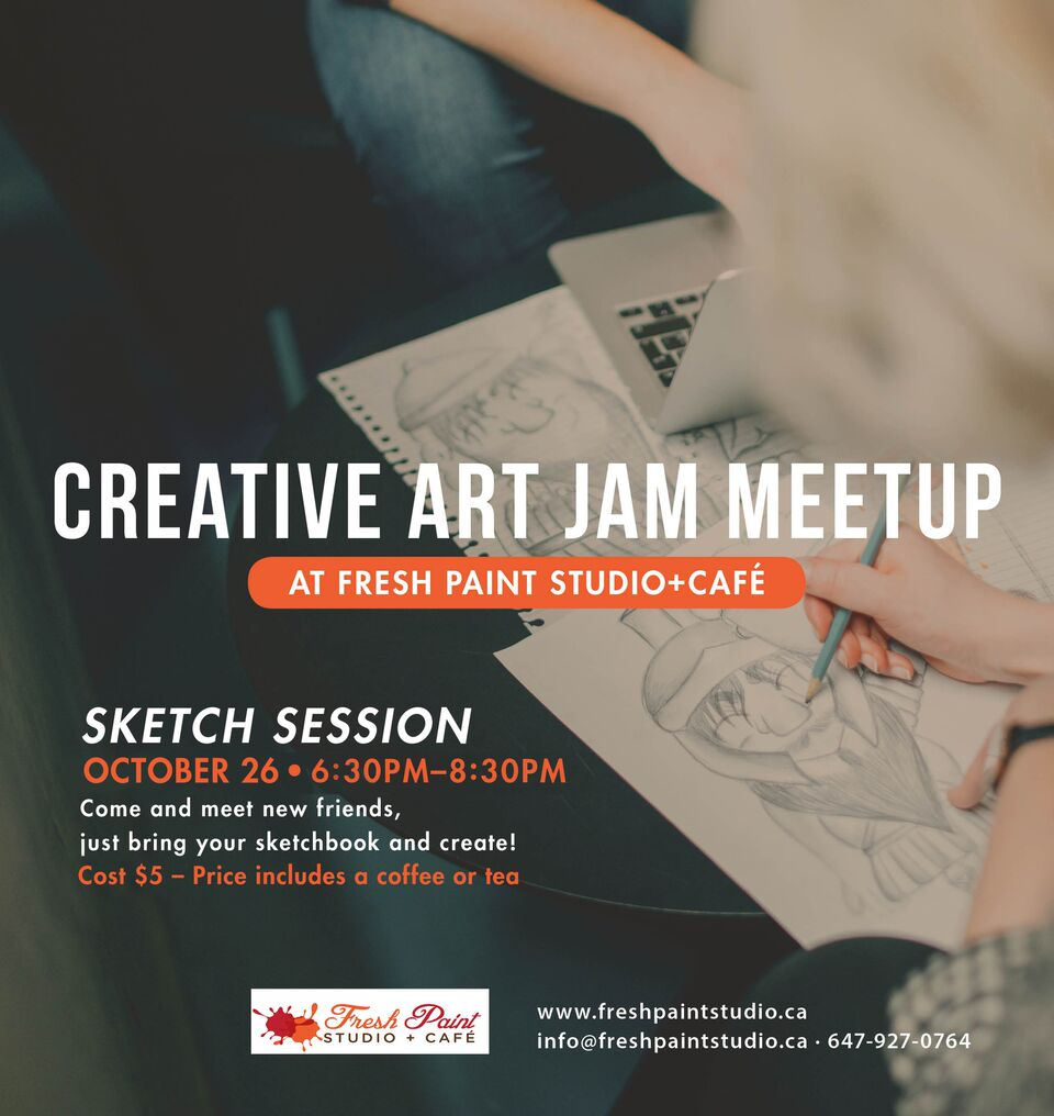 Creative Art Jam Sketch Session
