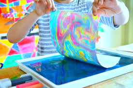 Abstract Art for Kids - Marbling Workshop