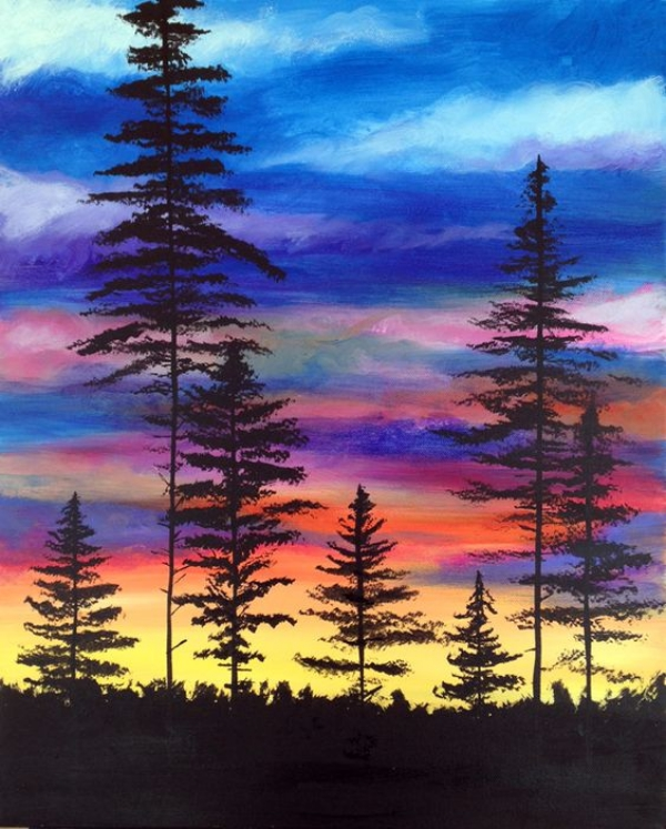 Watercolour and Wine Paint Night