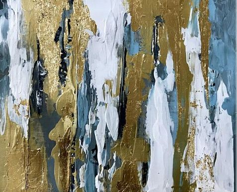 abstract gold leaf art workshop