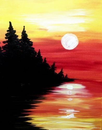 Paint Night - Sunset & Trees