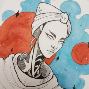Afrofuturism Ink & Drink- Watercolour & Ink Paint Night