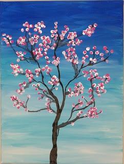 Virtual Paint Night - Cherry Blossoms