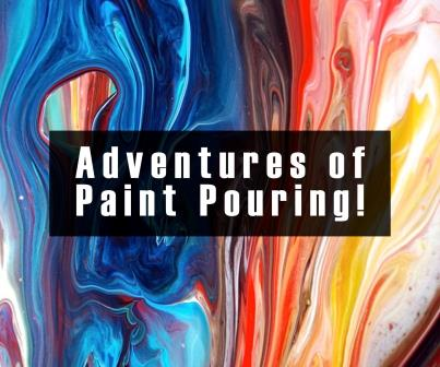 In-studio - Abstract Acrylic Paint Pouring - Freestyle