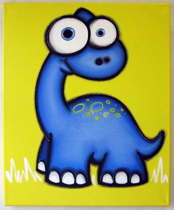 Kids Paint Day - The Friendly Dinosaur