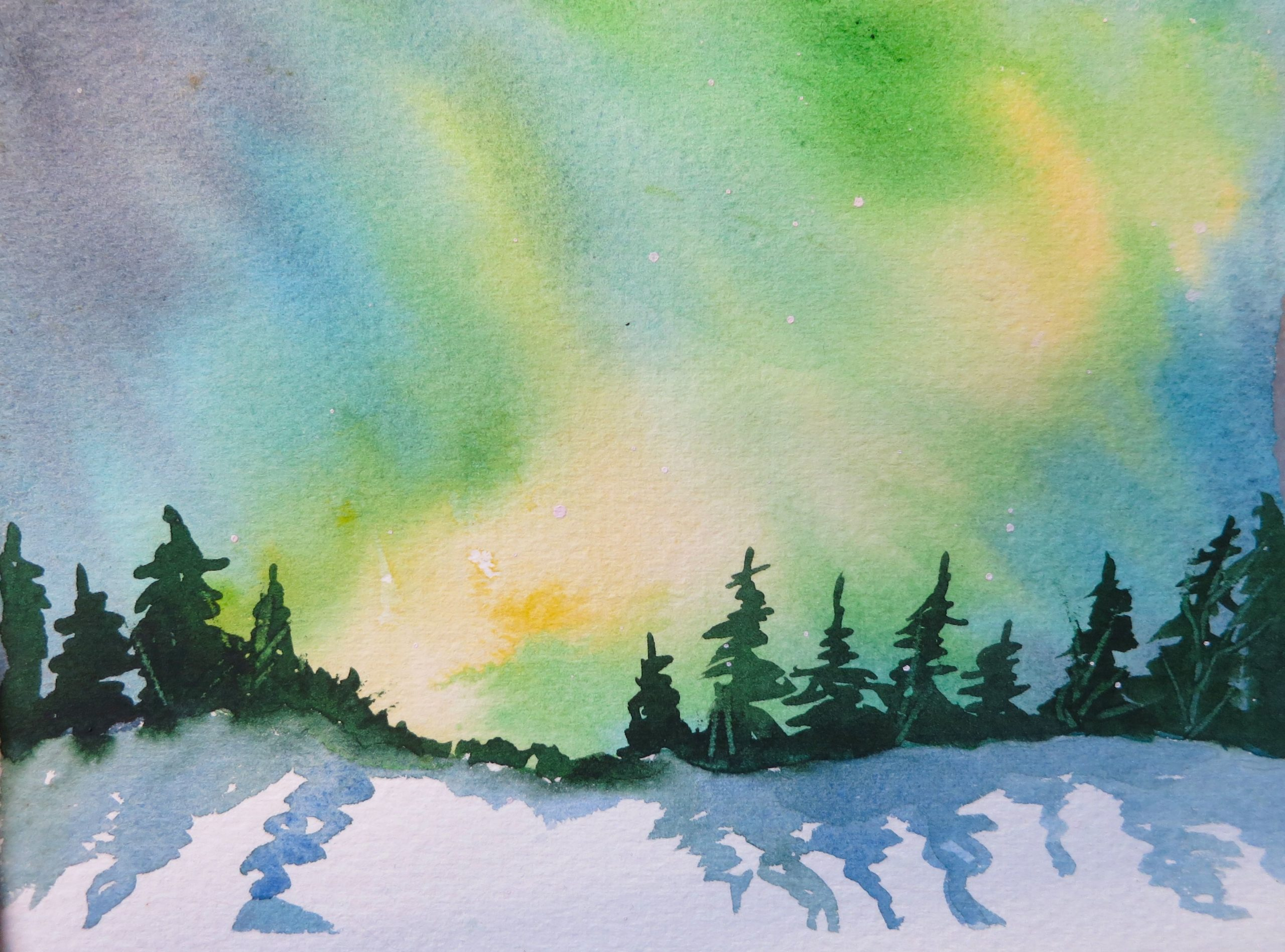 watercolour paint night