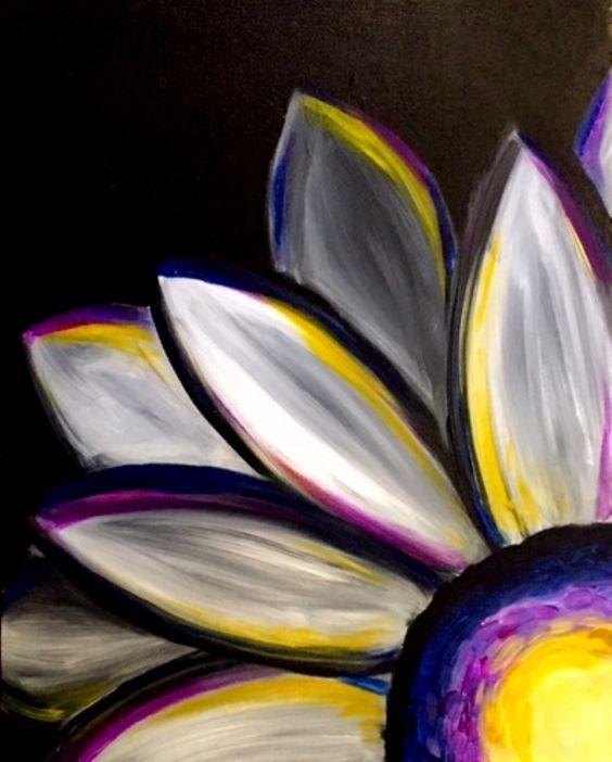 Kids Paint Day - Night Flower