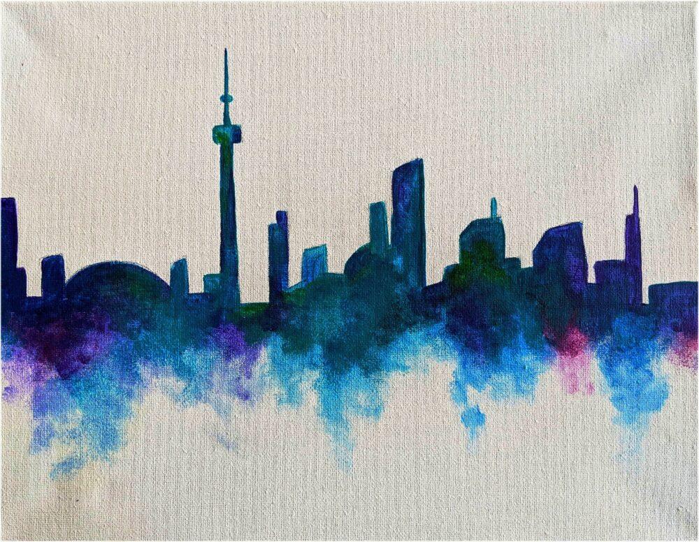 Virtual Paint Night - Toronto Skyline