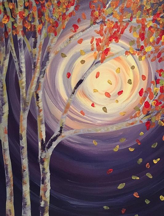 In-Studio Paint Night - Moon Glow & Fall Tree