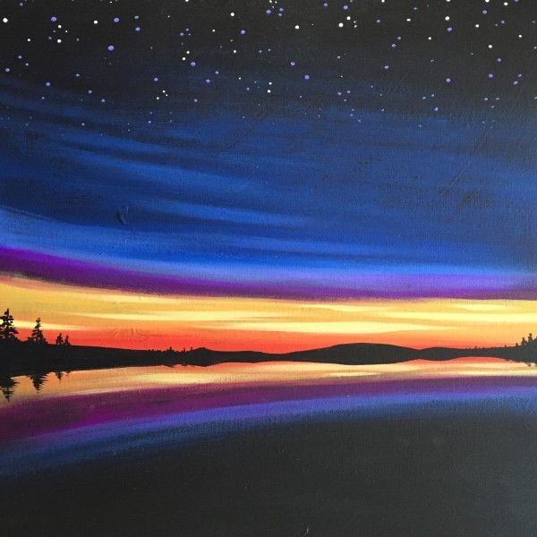 Starry Night & Sunset - Virtual Paint Night