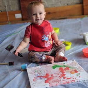 Virtual Baby Art Workshop & Social