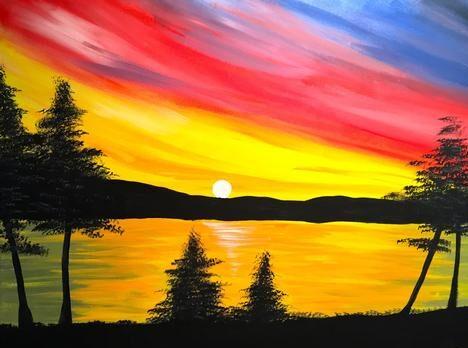 Virtual Paint Night - Pine Lake Sunset