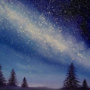 Starry Night and Trees - Virtual Paint Night