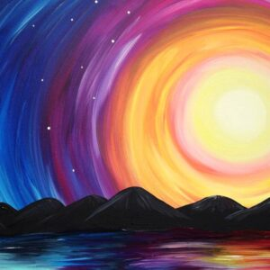 Virtual Paint Night - Vibrant Sunset