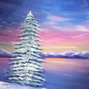 Winter at the Lake - Virtual Paint Night