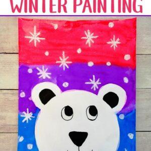 Free Instruction - Virtual Kids Paint Day - The Happy Polar Bear