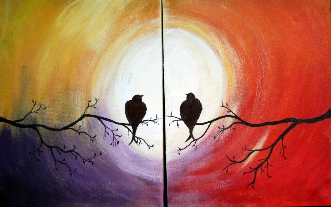 Connecting Canvases – Love Birds