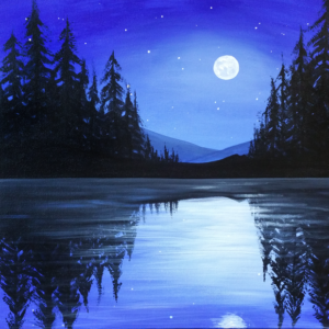 Moonlight on the Lake - Virtual Paint Night