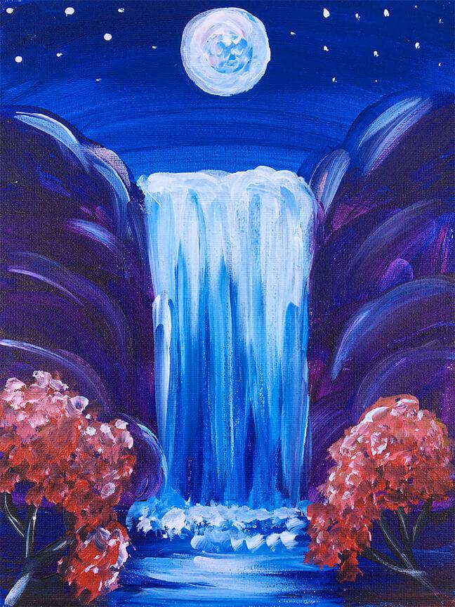 Night Falls - Virtual Paint Night
