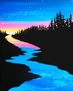 River Through the Forest - Virtual Paint Night