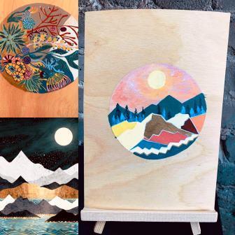 Acrylic Painting on Wood - Intermediate Virtual Course