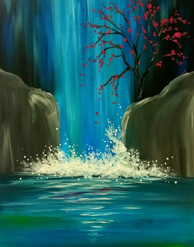 Moon Lit Waterfall