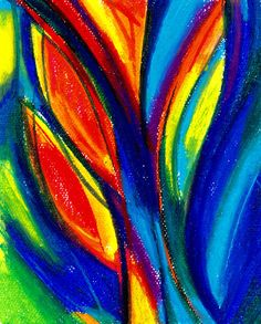 Vibrant Abstract Oil Pastel - Virtual Paint Night