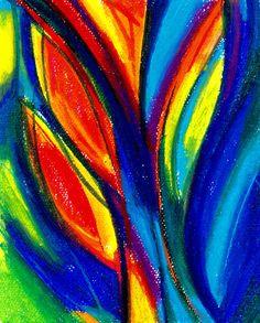 Vibrant Abstract Oil Pastel - Virtual Pastel Art Night