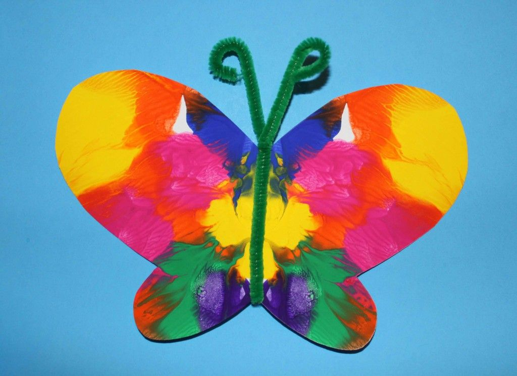 Virtual Kids Paint Day – Colourful Spring Butterfly