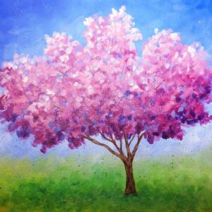 Spring Cherry Blossoms - Virtual Paint Night