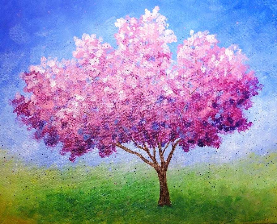 Spring Cherry Blossoms - Virtual Paint Night
