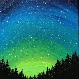 Starry Northern Lights - Virtual Paint Night