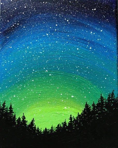 Starry Northern Lights - Virtual Paint Night