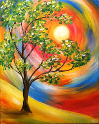 Sunshine & Summer Tree - Virtual Paint Night