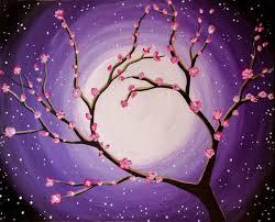 moon lit cherry blossoms