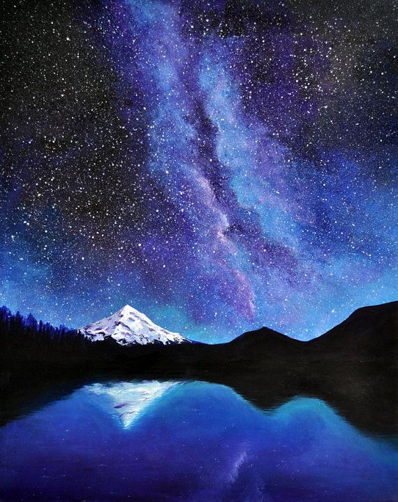 Galaxy & Mountain - Virtual Paint Night