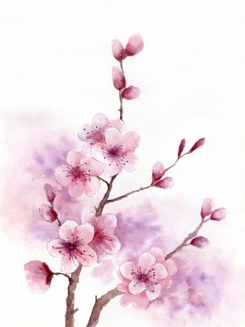 Virtual Watercolour Paint Night - Cherry Blossoms