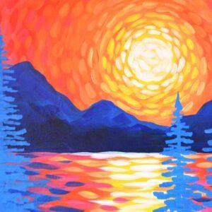 Sunset Lake - Virtual Paint Night