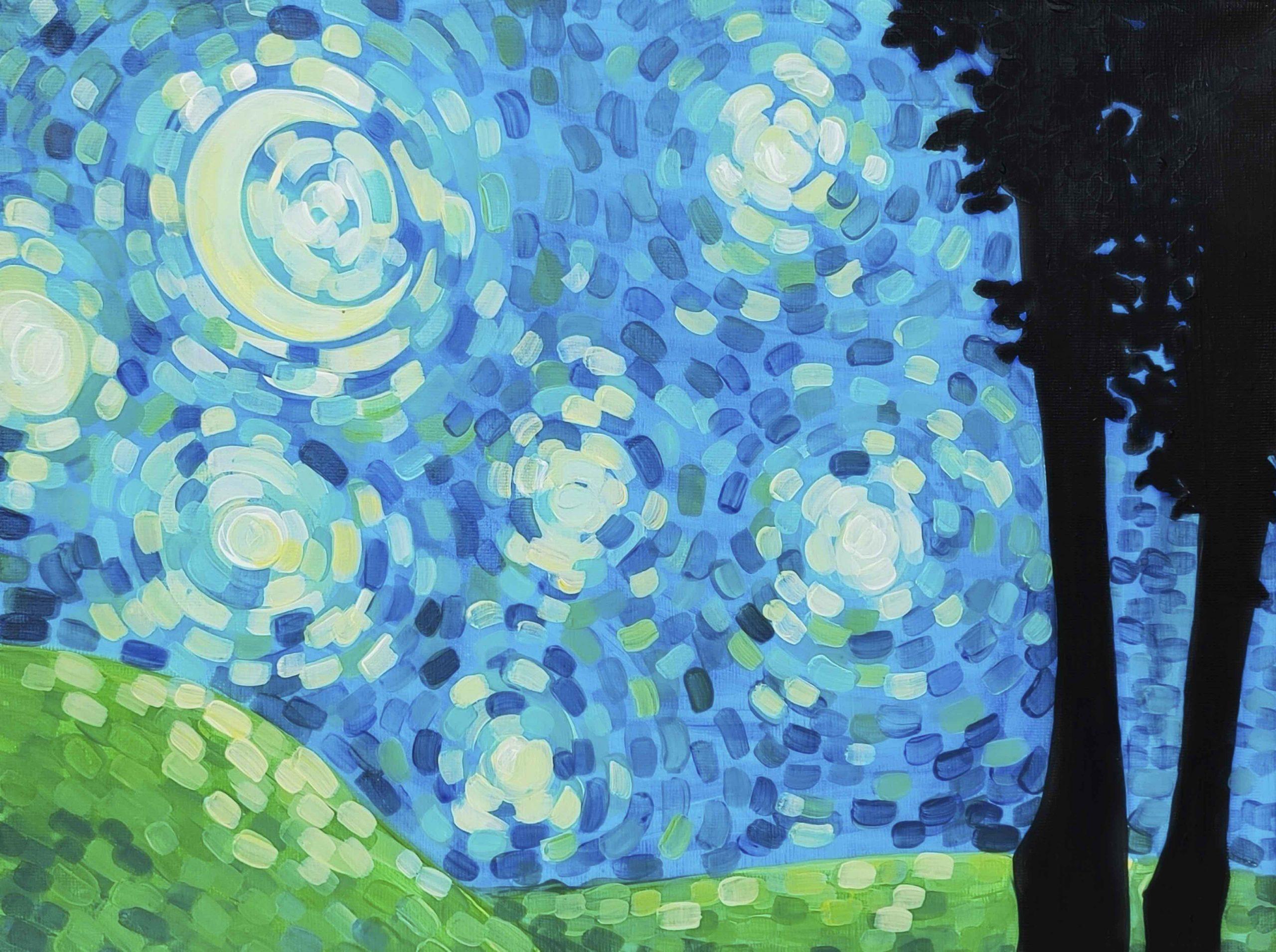 Virtual Paint Night - Blue Summer Sky