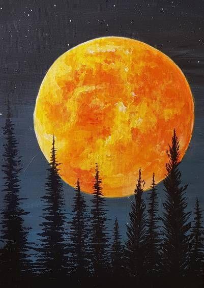 Virtual Paint Night - Fall Harvest Moon