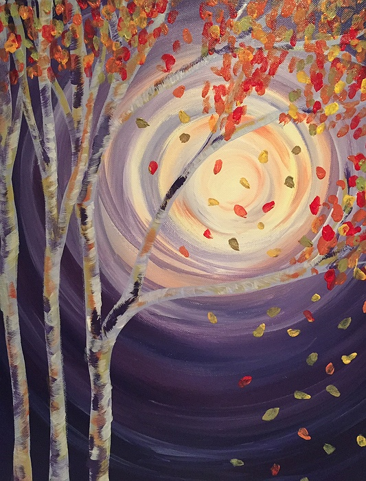 In-Studio Paint Night - Birch Trees and Fall Leaves