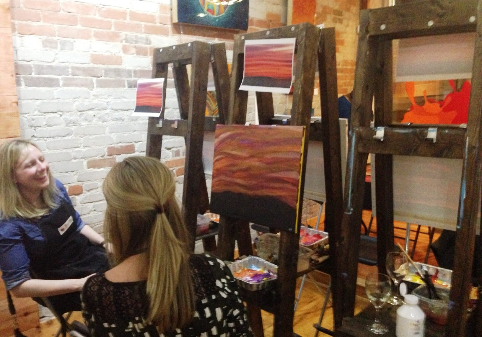 wine and painting Toronto